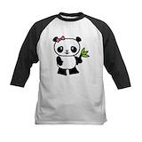Panda girl Baseball Jersey