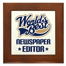 Newspaper Editor (Worlds Best) Framed Tile