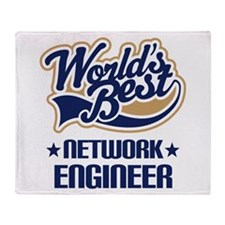 Network Engineer (Worlds Best) Throw Blanket
