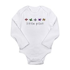littlepilot.png Long Sleeve Infant Bodysuit