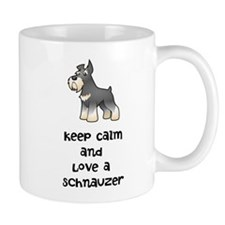 Keep Calm and Love a Schnauzer Mugs