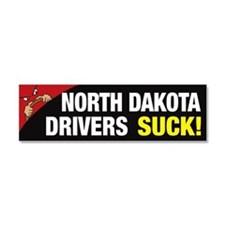 North Dakota Drivers Suck Car Magnet 10 x 3