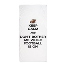Keep Calm Football Beach Towel