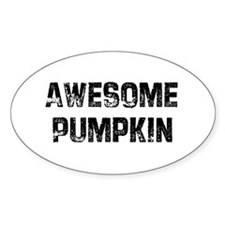 Awesome Pumpkin Oval Decal