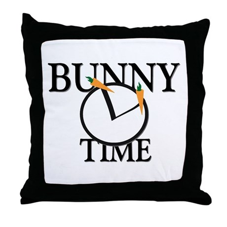 Bunny Time Throw Pillow