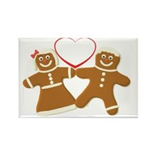 Ginger bread couple art Rectangle Magnet