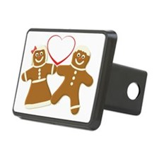 Ginger bread couple art Hitch Cover