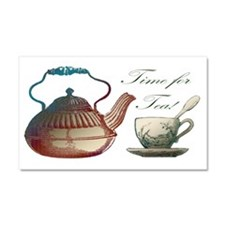 Time for Tea Vintage Style Art Car Magnet 20 x 12