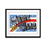 We Will Win Victory Framed Panel Print