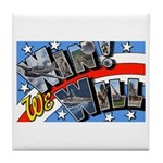 We Will Win Victory Tile Coaster