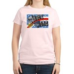 We Will Win Victory (Front) Women's Pink T-Shirt