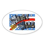 We Will Win Victory Oval Sticker