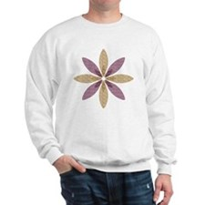 Sparkle Effect Floral Art Sweatshirt