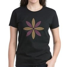 Sparkle Effect Floral Art Tee