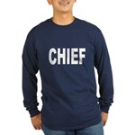 Chief (Front) Long Sleeve Dark T-Shirt