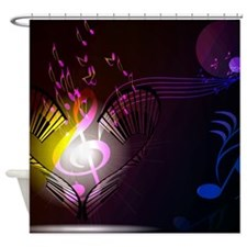 Music, Shower Curtain