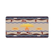 Spirit Path Rock Art Aluminum License Plate