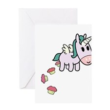 Unicorn Sweets Greeting Cards
