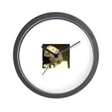 African Grey Wall Clock