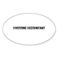 Awesome Accountant Oval Decal