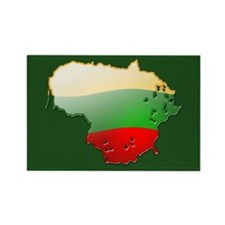 """Lithuania Bubble Map"" Rectangle Magnet (10 pack)"