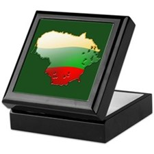"""Lithuania Bubble Map"" Keepsake Box"