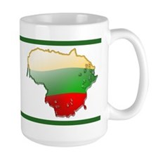 """Lithuania Bubble Map"" Mug"