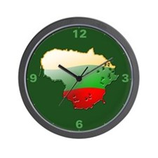 """Lithuania Bubble Map"" Wall Clock"