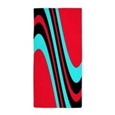 Funky Colourful Red Black Turquoise Treat Beach To