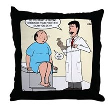 Prostate Second Opinion Throw Pillow
