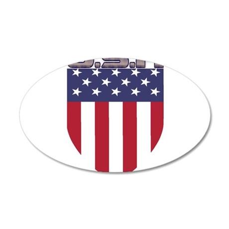 Patriotic American Flag Shield Wall Decal