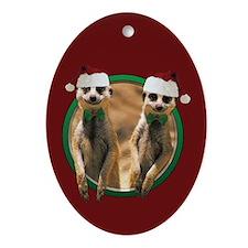 Meerkat Christmas Oval Ornament