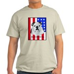 English Bulldog Made in the U Ash Grey T-Shirt