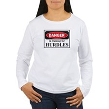 Hurdles Danger Sign T-Shirt