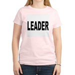 Leader (Front) Women's Pink T-Shirt