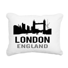 London England (gray) Rectangular Canvas Pillow