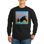 Boston Bull Terrier Long Sleeve Dark T-Shirt