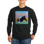 Boston Bull Terrier Long Sleeve Dark T-Shirt