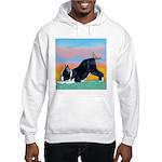 Boston Bull Terrier Hooded Sweatshirt