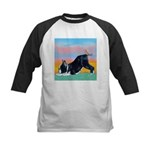 Boston Bull Terrier Kids Baseball Jersey