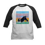 Boston Bull Terrier Kids Baseball Jersey
