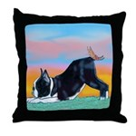 Boston Bull Terrier Throw Pillow