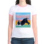 Boston Bull Terrier Jr. Ringer T-Shirt