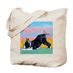 Boston Bull Terrier Tote Bag