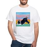 Boston Bull Terrier White T-Shirt