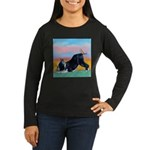 Boston Bull Terrier Women's Long Sleeve Dark T-Shi