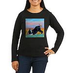 Boston Bull Terrier Women's Long Sleeve Dark T-Shi