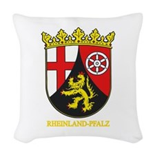 Rheinland-Pfalz (gold).png Woven Throw Pillow