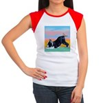 Boston Bull Terrier Women's Cap Sleeve T-Shirt
