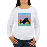 Boston Bull Terrier Women's Long Sleeve T-Shirt